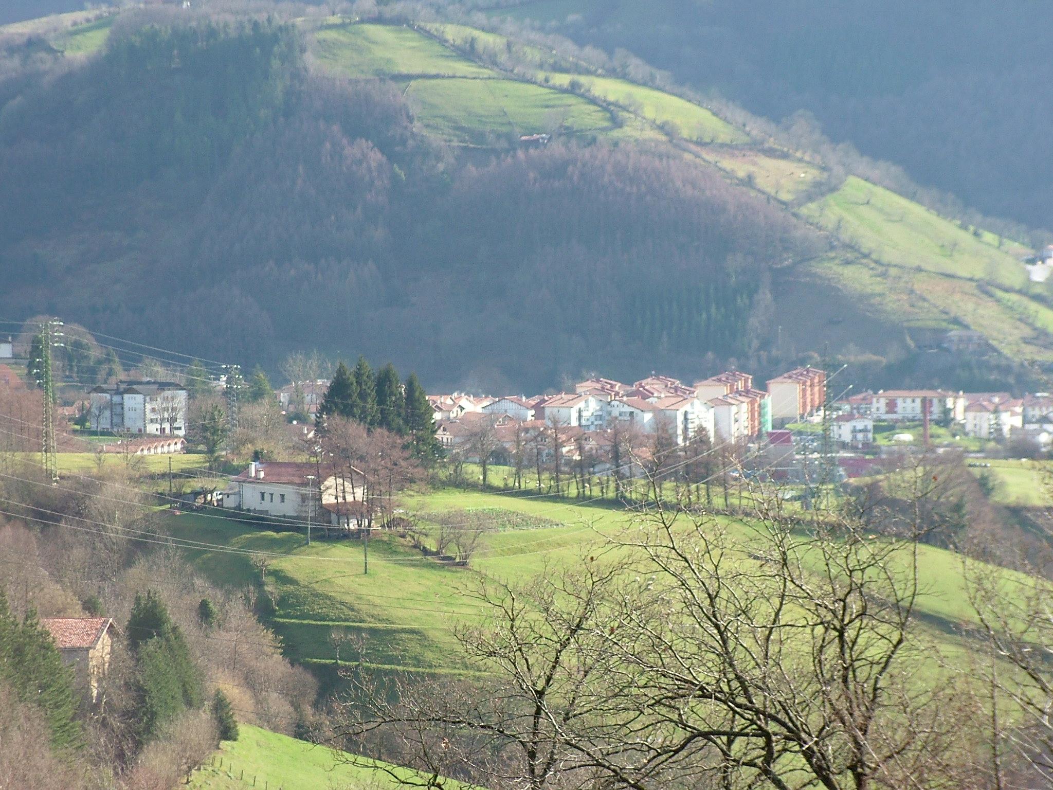 Vista de Leitza desde el monte