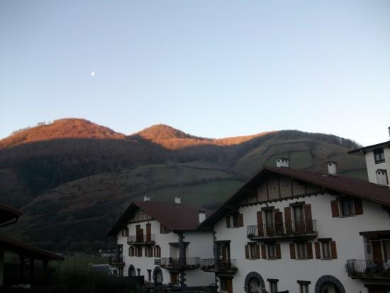 Foto sacada desde la casa rural de Aztieta