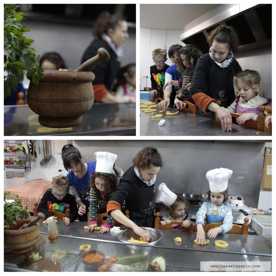 Cocinando con minichefs