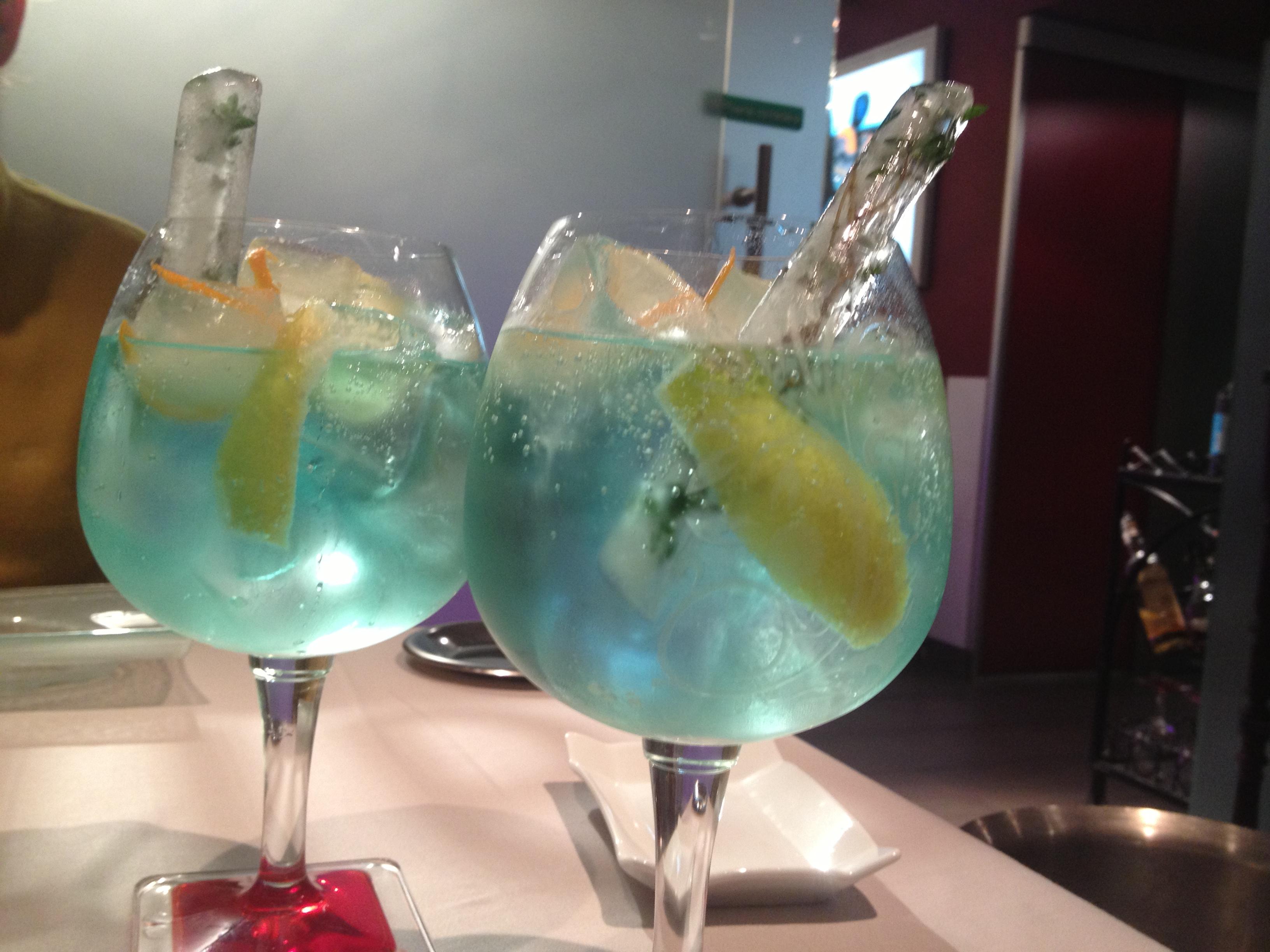 Un ejemplo de los Gin Tónics espectaculares de Eduardo Pérez
