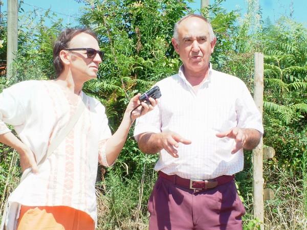 Manuel Moraga entrevistando para Rne (radio 5) a Jose Domingo Txabarri