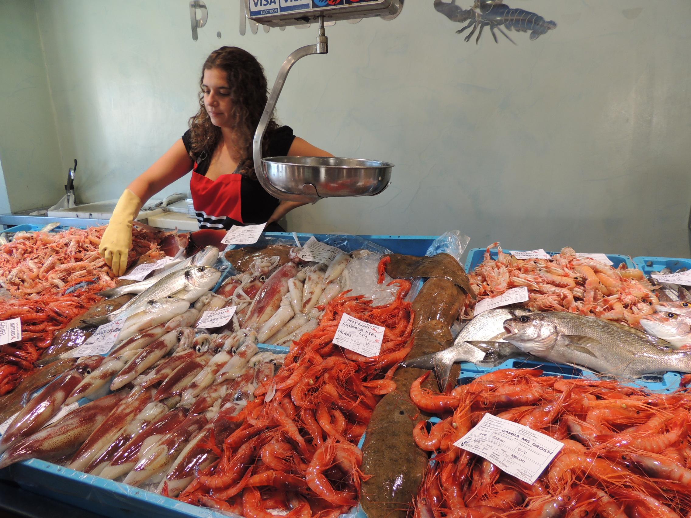 Mercado en La Lonja de Palamós