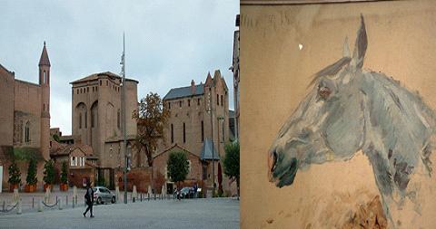 Palacio Berbie- Caballo Blanco(Toulouse Lautrec