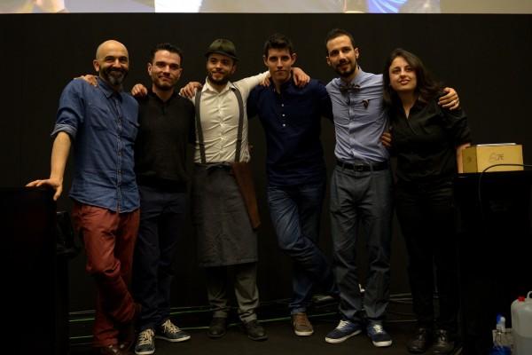 Los seis finalistas. De izquierda a derecha, Javier García, Francisco Tomas, Martin Prieto, Francisco Blanco (subcampeón), Héctor Hernández (tercer clasificado) y Alba Lage.