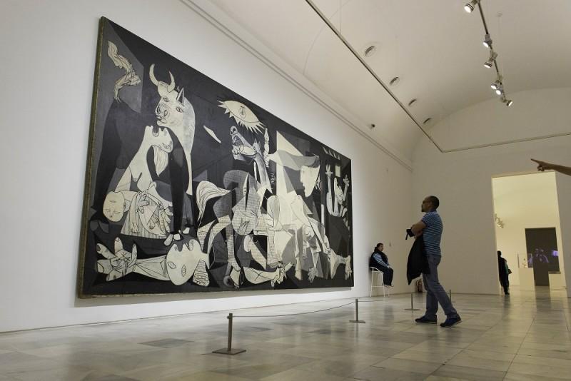 Gernica (1937), Pablo Picasso. Sala 206, Museo Nacional Centro de Arte Reina Sofía. Madrid.